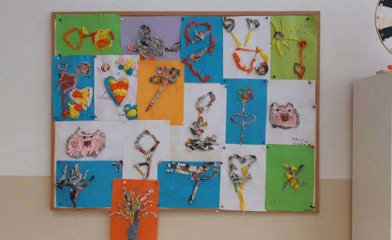fea155547 A opäť deti rozvíjali svoju fantáziu a kreativitu. Téma bola jar. Práca s  papierom. Deti sa so záujmom pustili do práce. S výsledkom boli všetci  spokojní.